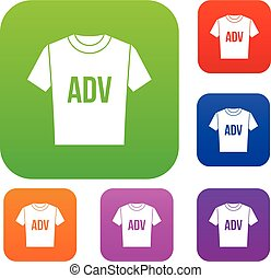T-shirt with print ADV set collection