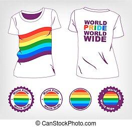 t-shirt with rainbow flag