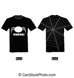 t-shirt with spider web vector illustration