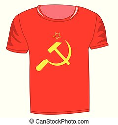 T-shirt with symbol communism