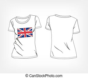 T-shirt with the flag of great Brit