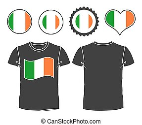 t-shirt with the flag of Ireland