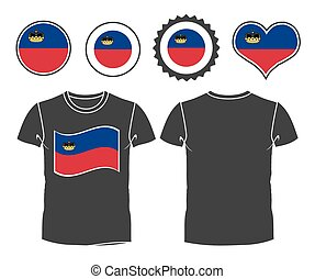 t-shirt with the flag of Liechtenstein
