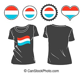 t-shirt with the flag of Luxembourg