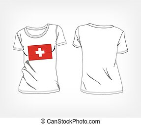 T-shirt with the flag of Switzerla