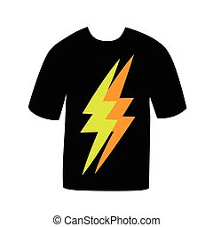 T-shirt with the sign of lightning