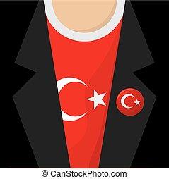 T-Shirt With Turkey Flag Vector Illustration