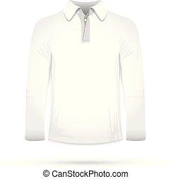 t-shirt, witte , lang