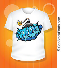 t-shirt, witte , vector, ontwerp