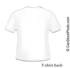 t-shirt, wstecz, bok