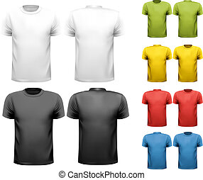t-shirts., γραφικός , σχεδιάζω , vector., αρσενικό , ...