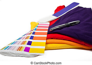 t-shirts and color scale