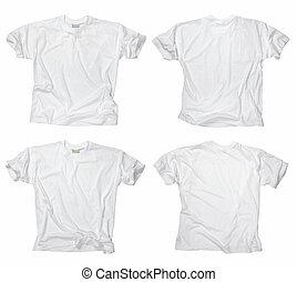 t-shirts bianchi, vuoto