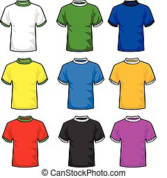 T-shirts - Illustration set of t-shirts in different colors