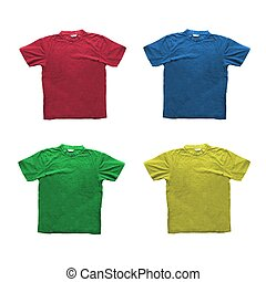 T-shirts - Four generic t-shirts in different colors