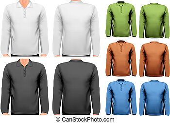 t-shirts., színes, tervezés, vector., hím, template.