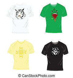 T-shirts with drawing