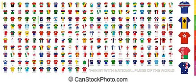 T-shirts with flags of the world.