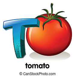 t, tomate, letra
