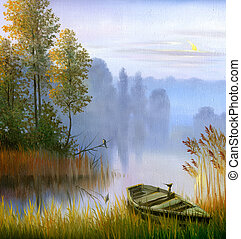ta, člun, dále, ta, násep, o, ta, jezero, jeden, plachtoví,...
