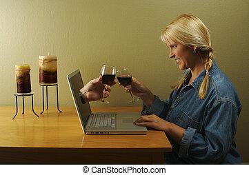 ta, nádhera, o, internet, řada, -, internet dating