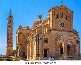 Ta Pinu Church - The basilica of the Virgin Of Ta Pinu near...