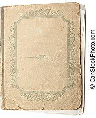 ta, starobylý, kniha, osamocený, oproti neposkvrněný, grafické pozadí