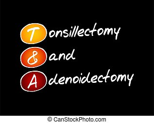 T&A - Tonsillectomy and Adenoidectomy acronym, medical ...