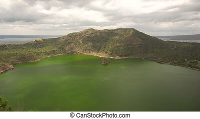 Taal Volcano, Tagaytay, Philippines. - Lake crater at Taal...