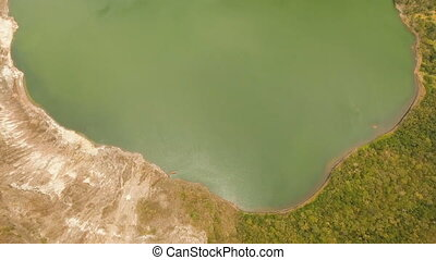 Taal Volcano, Tagaytay, Philippines. - Aerial view Lake...
