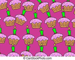 taart, behang
