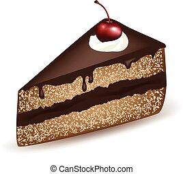 taart, chocolade
