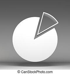 taart, diagram, 3d, pictogram