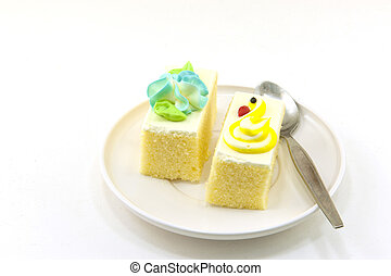 taart, op, een, witte achtergrond