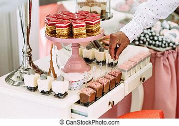 taart, toetjes, prachtig, kleurrijke