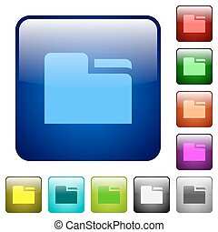 Tab folder color square buttons