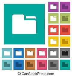 Tab folder square flat multi colored icons - Tab folder...