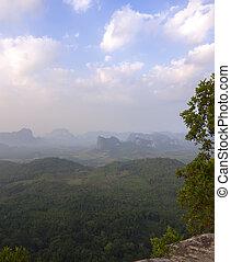 Tab Kak-Hang Nak Hill Nature Trail View Point. Krabi Province, Thailand
