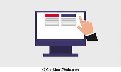 tab window icons - hand scrolling through tab window on...