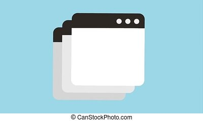 tab window icons - tab windows icons animation design