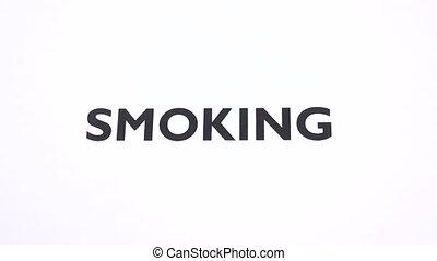 tabac, espace, prohibition, symbole, cigarette, écriture, ...