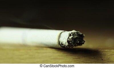 tabac, macro., cigarette fumer, gros plan
