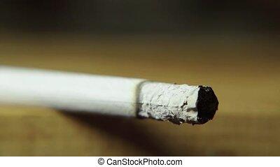 tabac, macro., fumer, gros plan, cigarette