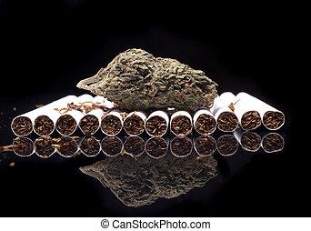 tabaco, smoking;, marijuana