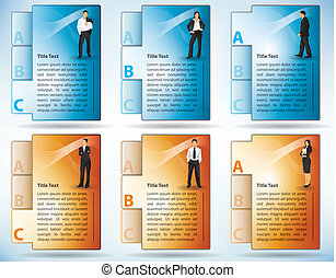 Tabbed File Templates Of Business People