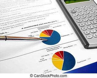 tabel, investering, pastei