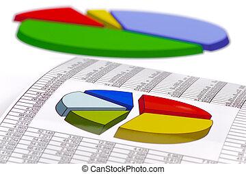 tabel, van, beursmarkt, optredens, groei