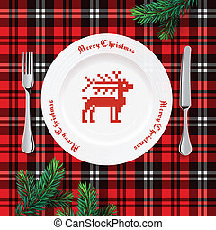 tabela, ajuste jantar, natal
