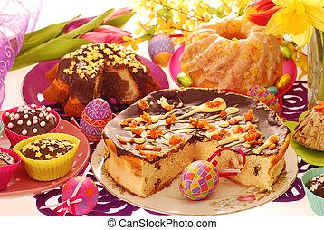 tabela, confectionery, páscoa, festivo