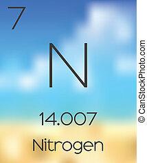 tabela, elementos, nitrogênio, periódico